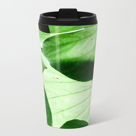 Shades of Green Metal Travel Mug