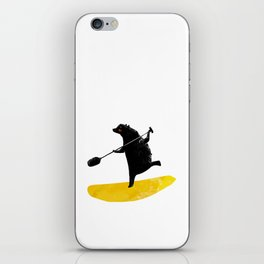 Paddling Bear loves his paddle board and surfing in the ocean. iPhone Skin