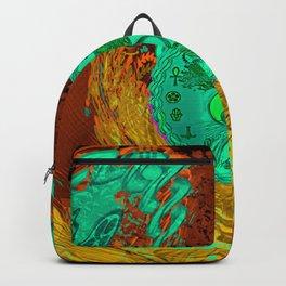 Tree of Life in Yin Yang Hippie Art Backpack