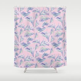 Succulent Pattern Pink- watercolor Shower Curtain