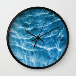 Ripple Water, Sun Reflection Water, Blue Water Wall Clock