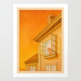 Wildfire Orange Art Print