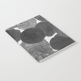 Abstract Gray Notebook