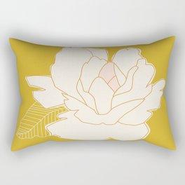 Outline Floral No. 1 Rectangular Pillow