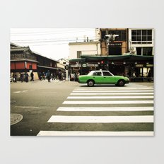 Green Taxi Canvas Print