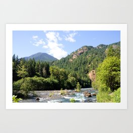 Elwha River, Olympic National Park, Washington Art Print
