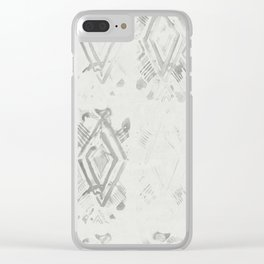 Simply Ikat Ink in Lunar Gray Clear iPhone Case