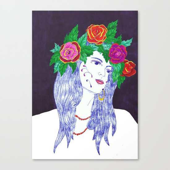 Girl in Dream Canvas Print