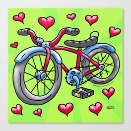 Bike Love Canvas Print