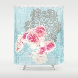 Roses and lace Shower Curtain
