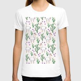 Llama Llamarama + Cactus T-shirt