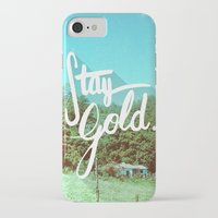 stay gold iPhone & iPod Cases featuring Stay Gold by Don Pekin