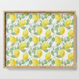 Sicilian Lemon Pattern I Serving Tray