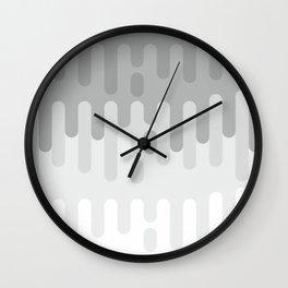 Gray Paint dripping background #society6 #decor #buyart #artprint Wall Clock
