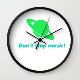 Don't stop music! Wall Clock