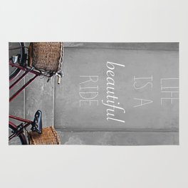 retro bicycle Rug