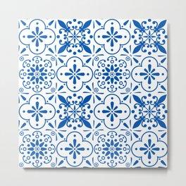 Azulejos Portugese tiles pattern Metal Print
