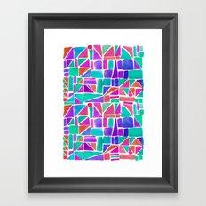 Watercolour Shapes Framed Art Print