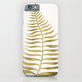 Golden Palm Leaf iPhone Case