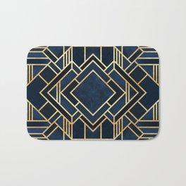 Art Deco Fancy Blue Bath Mat