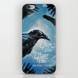 The Raven King - All Fire iPhone Skin
