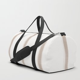 Skinny Strokes Gapped Vertical Nude on Off White Duffle Bag