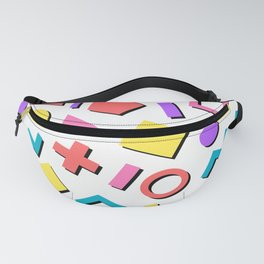 Playful Toy Box Potpourri of Colorful Shapes Pattern Fanny Pack
