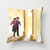 klaine Throw Pillows featuring Dalton by CRAZiE-CRiSSiE