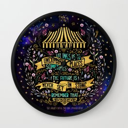The Night Circus- Unexpected Places Wall Clock