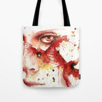cardinal Tote Bags featuring Cardinal  by Chelsea Brouillette