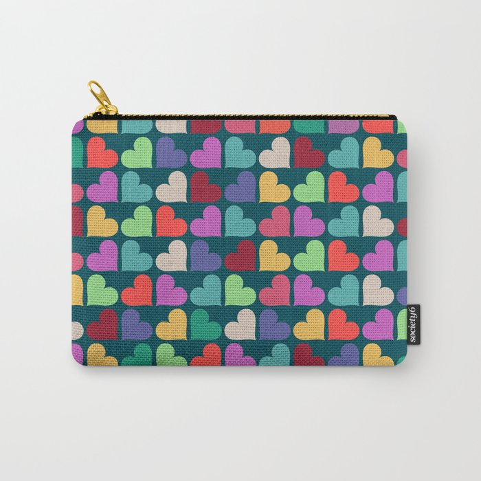 Colorful Love Pattern XII Carry-All Pouch