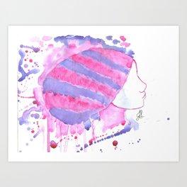 Head covered girl 4 Art Print