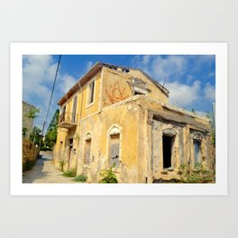 Old House in Paphos Old Town Art Print