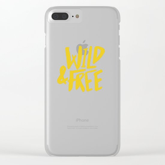 Wild and Free - Sunshine Clear iPhone Case