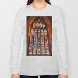 Stained Glass Abbey Window Long Sleeve T-shirt