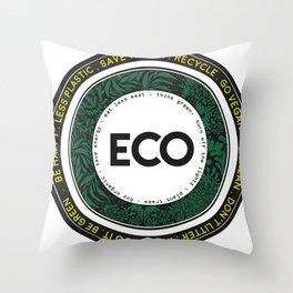 Eco-Logo Throw Pillow