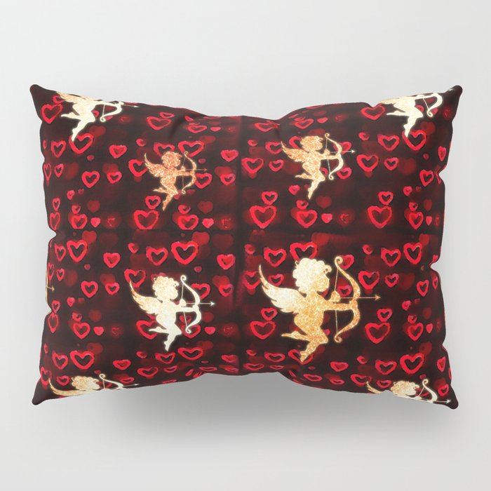 Cupids and Hearts Pillow Sham