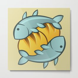 Loaves and Fishes I Metal Print