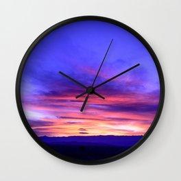 Southeastern Nevada Sunset - I Wall Clock