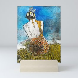Bee woman (honeycomb ii) Mini Art Print