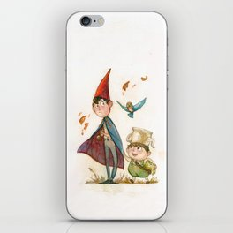 One is a Bird, Two are the Trees iPhone Skin