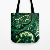 paisley Tote Bags featuring Paisley by Kim Ramage