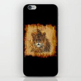 The Lion Papyrus - Big Cat Artwork iPhone Skin