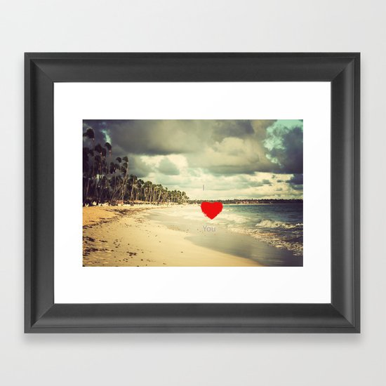 I ♥ You Framed Art Print