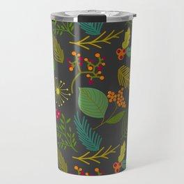 Fall floral pattern Travel Mug