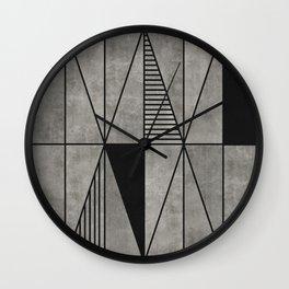 Concrete triangles Wall Clock