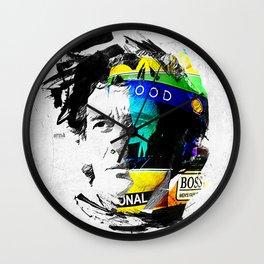 Ayrton Senna do Brasil - White & Color Series #4 Wall Clock
