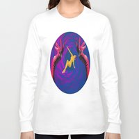 thrones Long Sleeve T-shirts featuring Diamond Flash by Laura Nadeszhda
