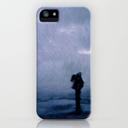 Silhouette in the fog iPhone Case