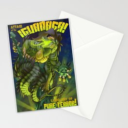 Attack of the IguaNaga! Stationery Cards